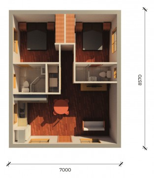 ASHFIELD  3D FLOORPLAN
