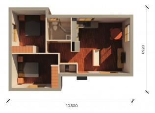 BANCROFT  3D FLOORPLAN