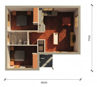 BUNDEENAPLUS  3D FLOORPLAN