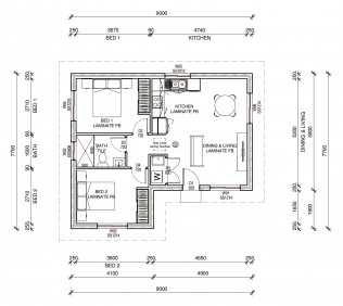 BUNDEENA  2D FLOORPLAN