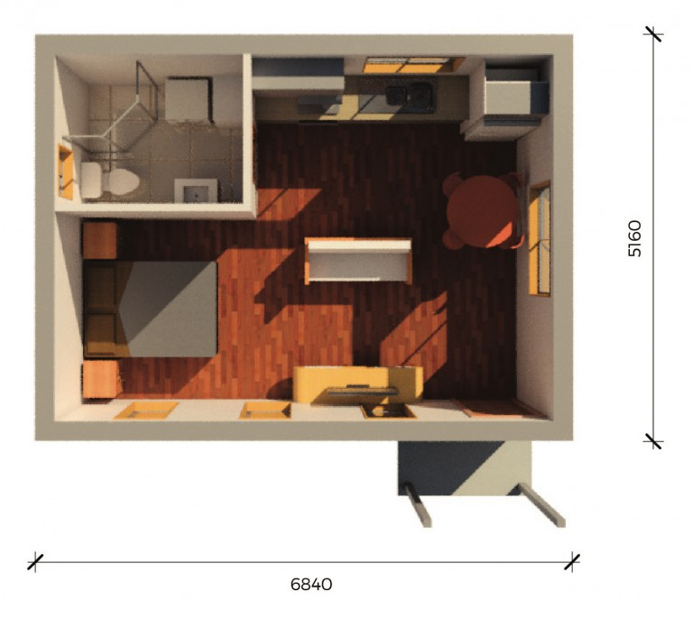 Separate Garage Block Possibly With Studio Accommodation: Rescon Granny Flats