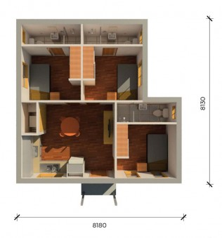 FOSHAN2PLUS 3D FLOORPLAN