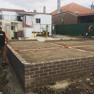concrete slab for new granny flat build