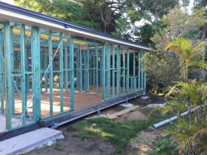 timber frames of new granny flat