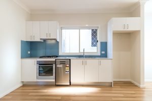 new kitchen during granny flat construction