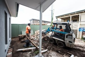 backyard clearance for granny flat build