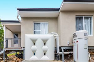 water tank with boiler at new granny flat