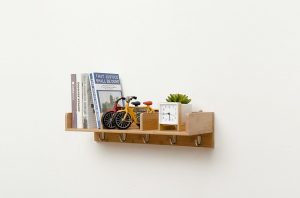 Wall-mounted shelf that can be incorporated into any granny flat design